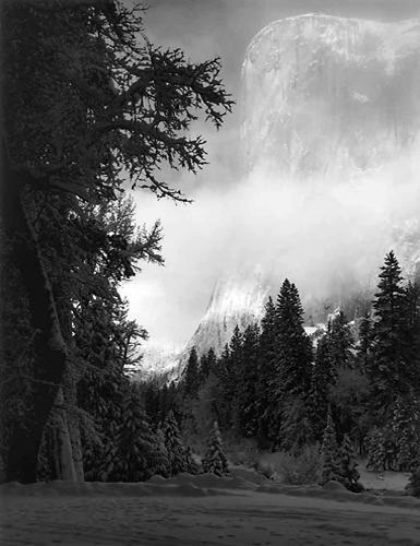 El Capitan, Winter Sunrise, Yosemite National Park, California, 1968 13 x 10 inches silver print