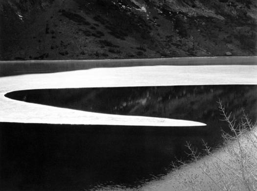 Ice on Ellery Lake, Sierra Nevada, c.1959 13 x 18.75 inches silver print