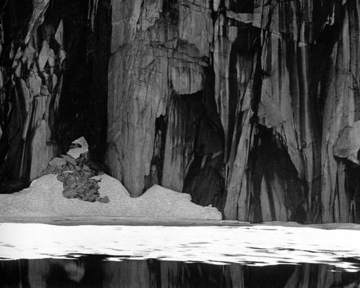 Frozen Lake and Cliffs, Sierra Nevada, California, 1932 14.5 x 18.5 inches silver print