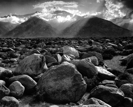 Mount Williamson, Sierra Nevada, from Manzanar, California, 1944 15.5 x 19.5 inches silver print
