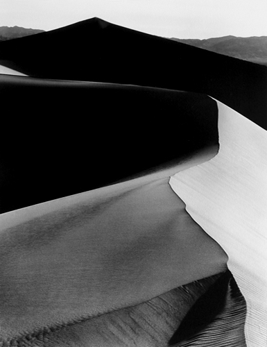 Sand Dunes, Sunrise, Death Valley National Monument, California, 1948 20 x 16 inches silver print