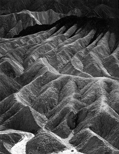 Zabriskie Point, Death Valley Monument, California, 1942 9.5 x 7.5 inches silver print
