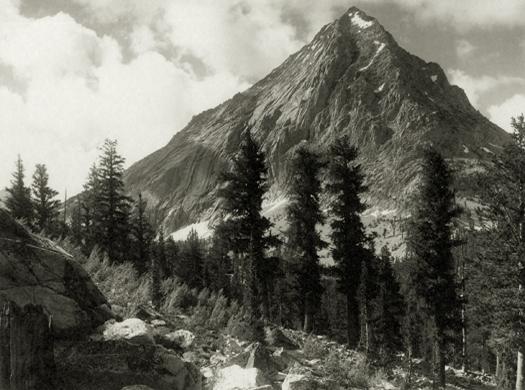 East Vidette, Southern Sierra, c.1923-27 5.75 x 7.75 inches vintage parmelian print