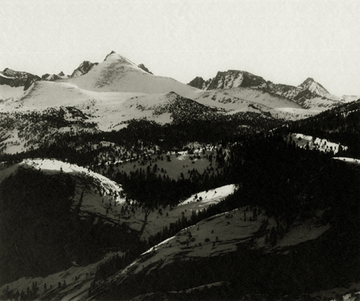 The Abode of Snow, From Glacier Point, Yosemite Valley, c.1923-27 6 x 8 inches vintage parmelian print