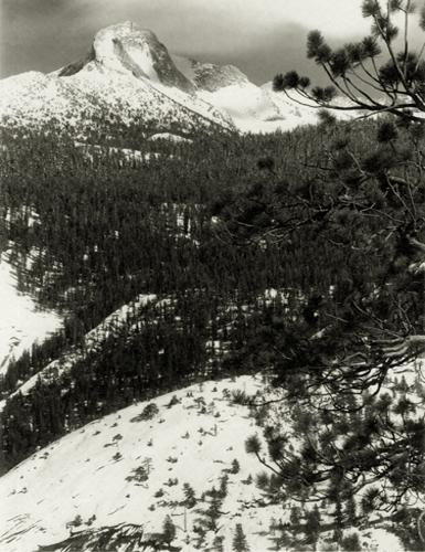 Mount Galen Clark, Yosemite Park, 1927 8 x 6 inches vintage parmelian print