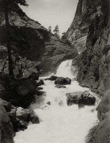 Roaring River Falls, Kings' River Canyon, c.1923-27 8 x 6 inches vintage parmelian print