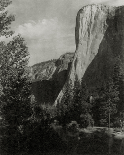 El Capitan, Yosemite Valley, c.1923-27 7 x 5.75 inches vintage parmelian print