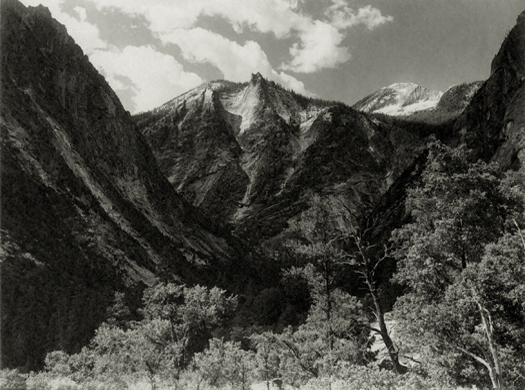 Lower Paradise Valley, Southern Sierra, c.1923-27 6 x 8 inches vintage parmelian print