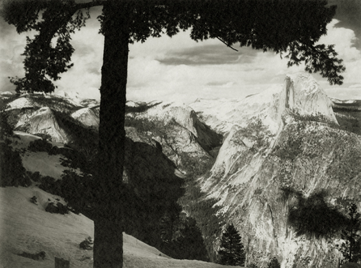 From Glacier Point, Yosemite Valley, c.1923-27 6 x 8 inches vintage parmelian print