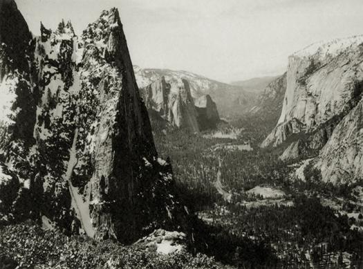The Sentinel, Yosemite Valley, c.1923-27 5.75 x 7.75 inches vintage parmelian print