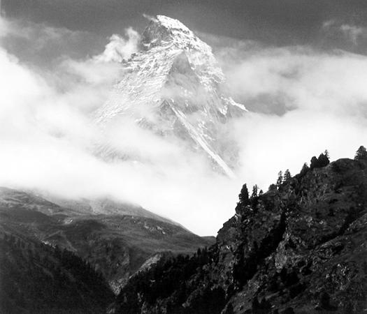 The Matterhorn, Switzerland, 1976 10.5 x 11 inches vintage silver print