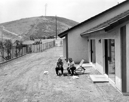 Backyard, Yorba Linda, California, 1984 from  Subdividing the Inland Basin  14 x 17 inches vintage silver print