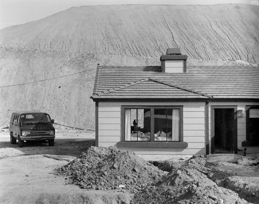 Model Home, Phillips Ranch, California, 1984 from  Subdividing the Inland Basin  11 x 14 inches vintage silver print