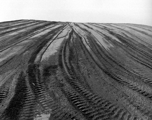 Sanitary Landfill, Corona, California, 1984 from  Subdividing the Inland Basin  11 x 14 inches vintage silver print