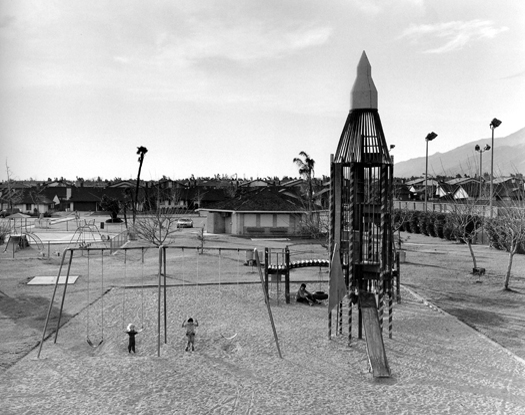 Playground, San Bernardino, California, 1984 from  Subdividing the Inland Basin  14 x 17 inches vintage silver print