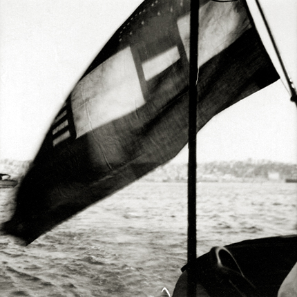 Untitled (boat flag on the Bosporus), c.1914-18 2.5 x 2.5 inches vintage silver print