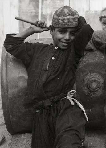 Arab Boy, Yaffa, 1934 11.25 x 8 inches silver print
