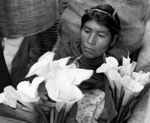Lily Woman, Oaxaca, Mexico, 1956 9 x 8 inches silver print
