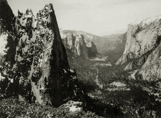The Sentinel, Yosemite Valley,  c.1927 Vintage parmelian print 5.75 x 7.75 inches