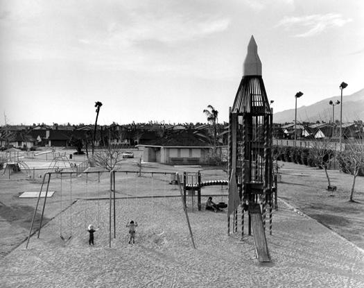 Playground, San Bernardino, California, 1984 14 x 17 inches vintage silver print