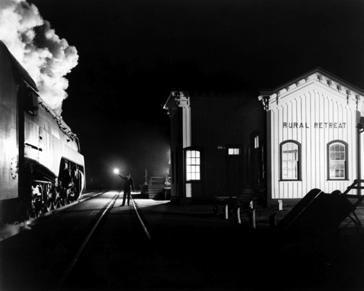NW1635 Birmingham Special at Rural Retreat, Virginia, 1957 16 x 20 inches silver print