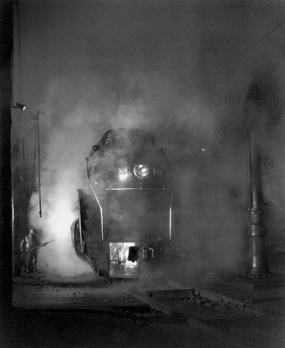 NW13 Washing J Class 605 at Shaffers Crossing Outside Roanoke, Virginia, c.1955-56 20 x 16 inches silver print
