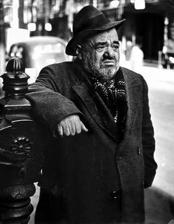 Lower East Side (man), New York, c. 1939 20 x 16 inches silver print