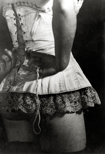 The Corset, 1929 Silver print 13.25 x 8.8 inches