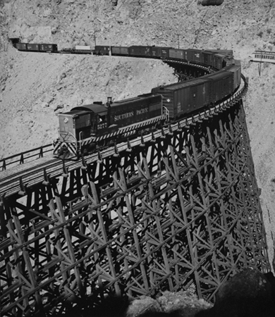 Carriso Gorge, Goat Canyon, Trestle, 1952 14 x 11 inches silver print
