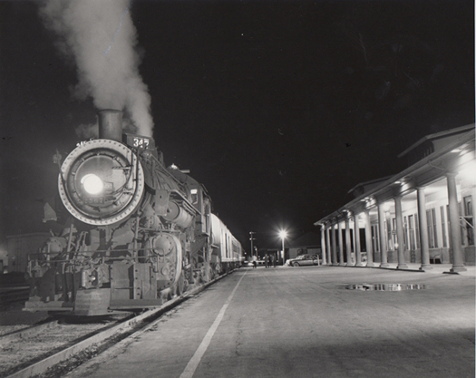 Imperial Passenger en Route, Calexico - Milano at El Centro, 1953 10 x 8 inches silver print