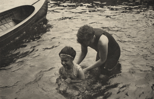The Swimming Lesson, 1906 5.75 x 9 inches photogravure