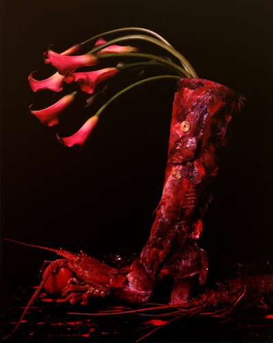 The Red Boot, 1995 22 x 18 inches chromogenic dye coupler print