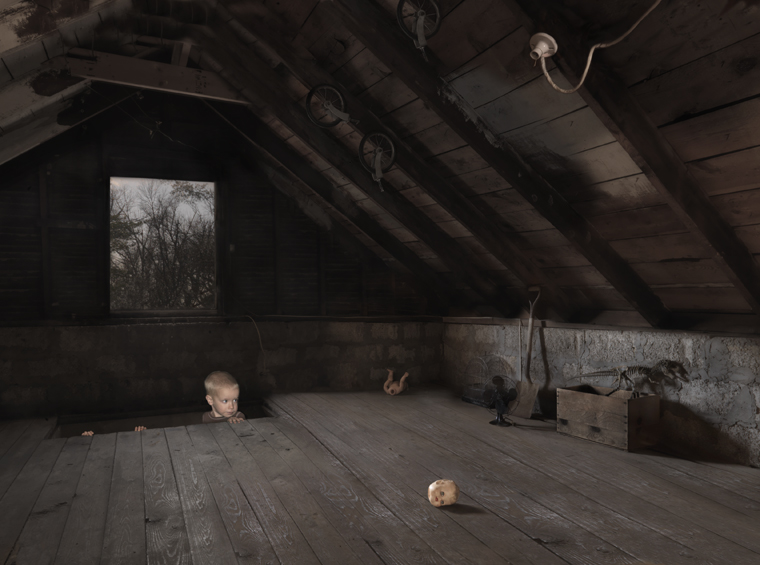 Attic, 2009 24 x 31 inches (edition of 25) 36 x 46 inches (edition of 10) 44 x 57 inches (edition of 5) archival pigment print