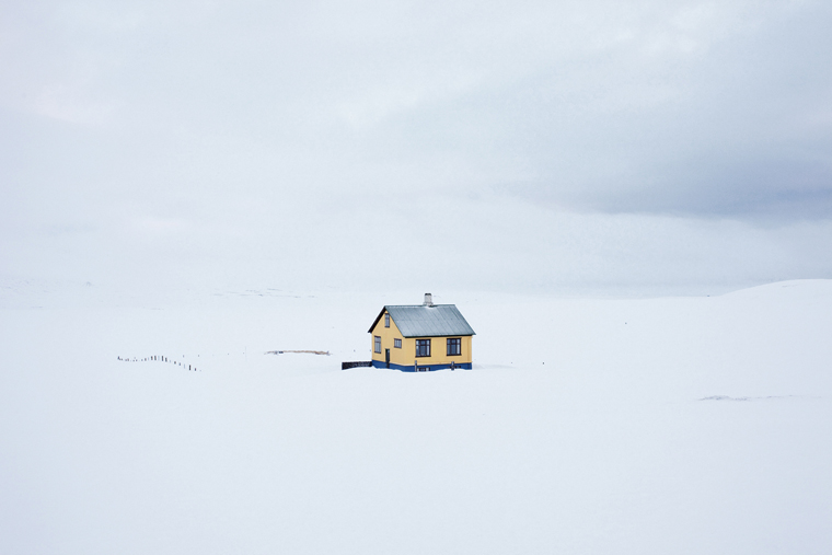 Yellow House, On the Road, 2011 from the series:  Ísland  24 x 35.5 inches (edition of 8) 29.5 x 43.5 inches (edition of 8) archival pigment print