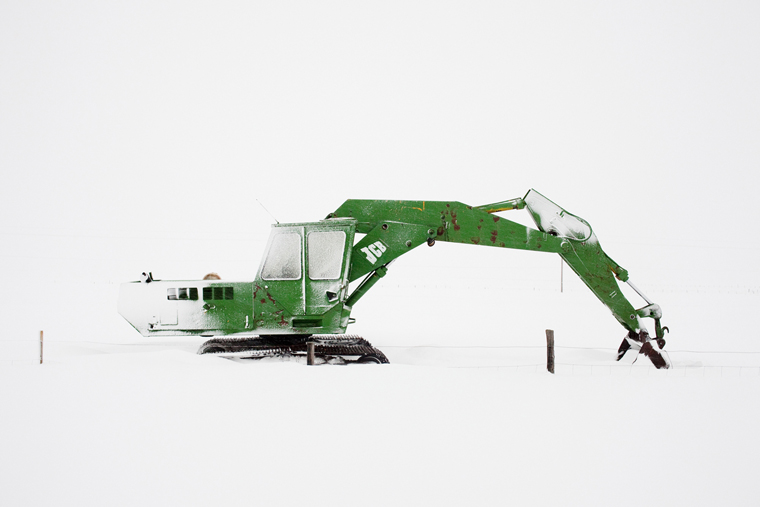 Excavator, On the Road, 2011 from the series:  Ísland  24 x 35.5 inches (edition of 8) 29.5 x 43.5 inches (edition of 8) archival pigment print
