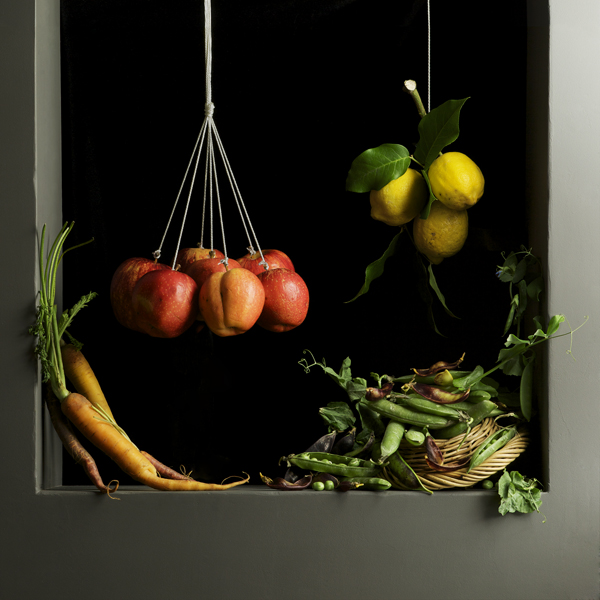 Apples and Peas, after J.S.C., 2010 from the series:  Natura Morta  24 x 24 inches (edition of 7) archival pigment print