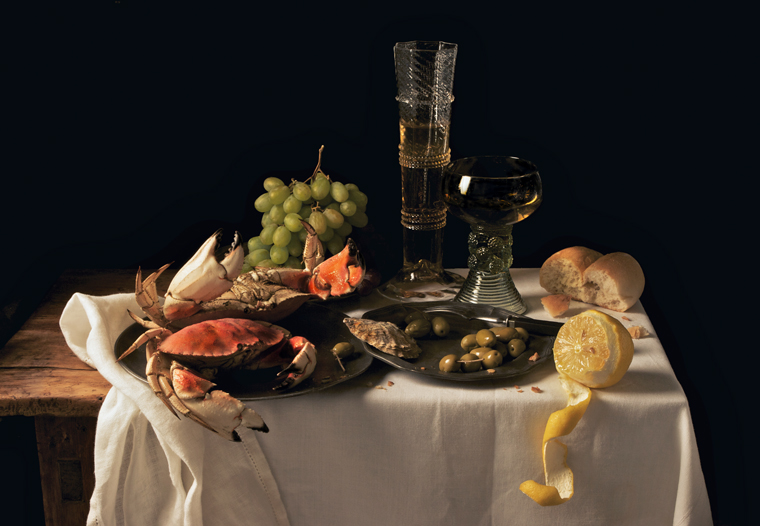 Crabs and Lemon, after P.C., 2009 from the series:  Natura Morta  16 x 20 inches (edition of 15) 20 x 30 inches (edition of 7) 32 x 48 inches (edition of 5) archival pigment print