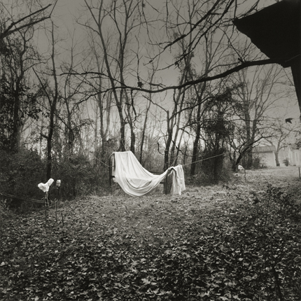 Great-Grandmother's Bed, 1998 from the series:  Hymnal of Dreams  16 x 20 inches toned silver print