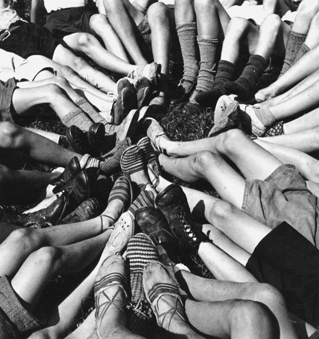 Untitled (Feet in Circle, Colombes, Paris), 1938  7 x 7 inches vintage silver print
