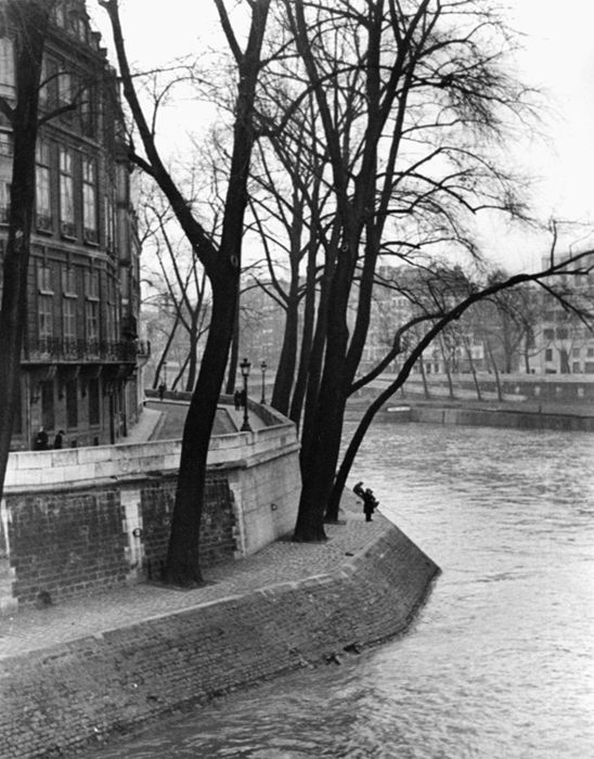 Untitled (Bend in River, Paris), 1937  9.5 x 6.25 inches vintage silver print