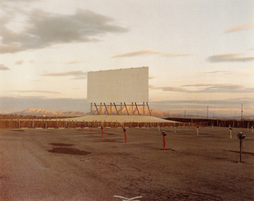 Drive-In Theatre, Las Vegas, 1987 from the series:  American History Lessons   chromogenic dye coupler print 20 x 24 inches