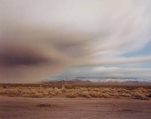 Clearing Storm Near Kingman, 1985  chromogenic dye coupler print 30 x 40 inches