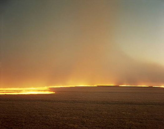 Desert Fire #249, 1985  chromogenic dye coupler print 30 x 40 inches