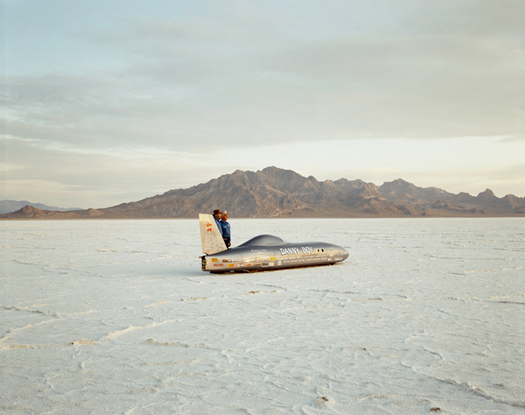 Danny Boy, Bonneville Salt Flats, 1992  chromogenic dye coupler print 40 x 50 inches