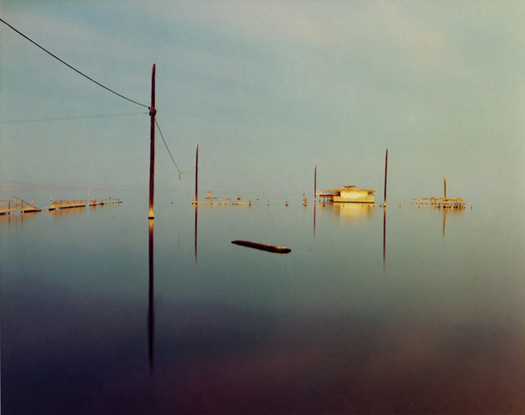 Flooded Snack Bar, Salton Sea, 1984  chromogenic dye coupler print 20 x 24 inches