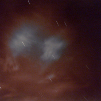 Untitled (night clouds), 1977  vintage split toned silver print 20 x 16 inches