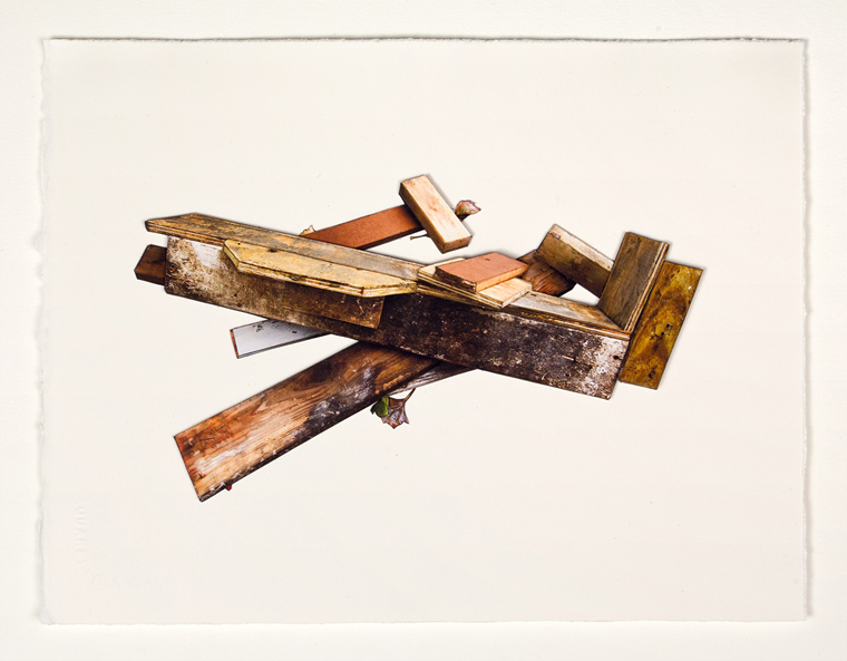 Wood #2, 2012 8.5 x 11 inches unique photo-based construction