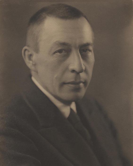 Sergei Rachmaninov, 1925  vintage platinum/palladium print 9.5 x 7.5 inches