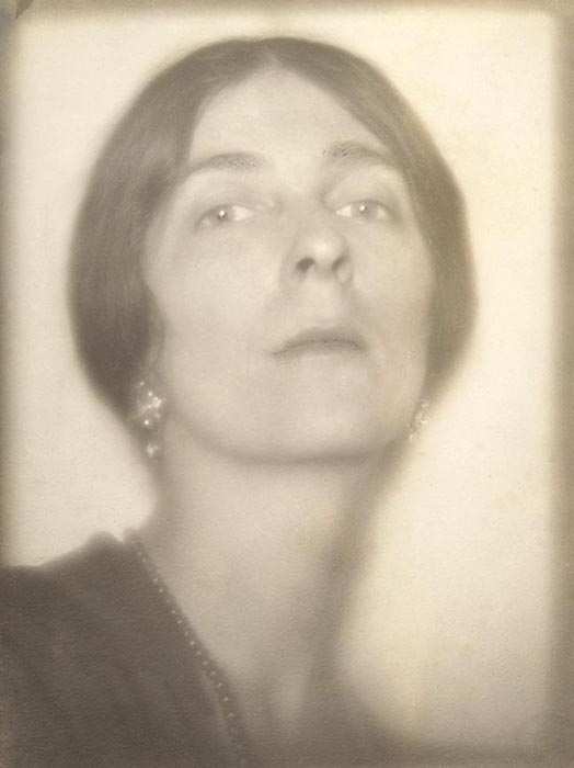 Self Portrait, 1919  vintage platinum/palladium print 8.25 x 6.25 inches