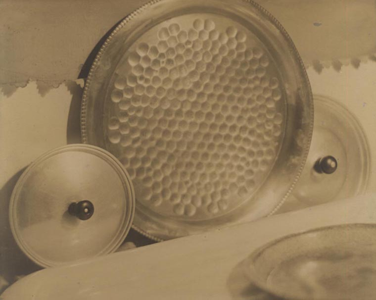 Pan Lids, 1919  vintage platinum/palladium print 6.5 x 8 inches
